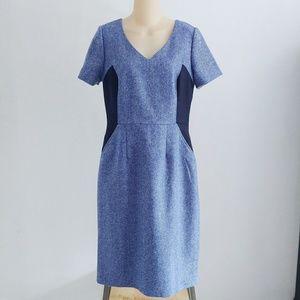 Boden Olivia Wool Sheath Shift Dress Size 8